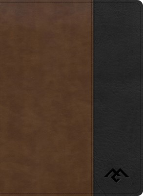 CSB Men of Character Bible, Brown/Black, Indexed (Imitation Leather)