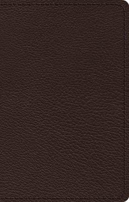 ESV Premium Thinline Bible, Brown Goatskin (Genuine Leather)
