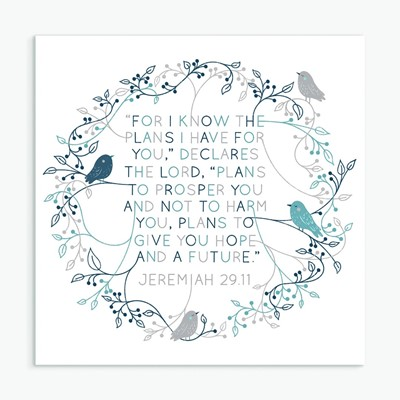 For I Know (Birds and Foliage) Greeting Card (Cards)