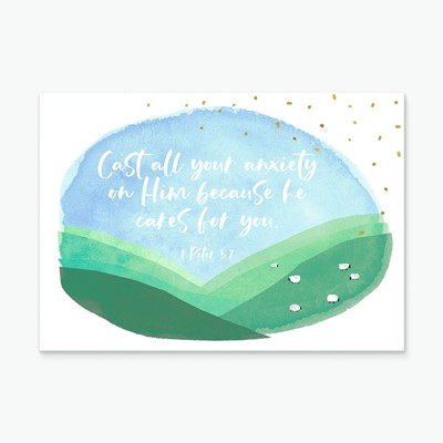 Cast All Your Anxiety (Hillside) Greeting Card (Cards)