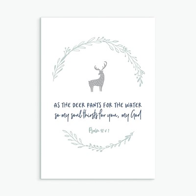 As the Deer Pants for the Water Greeting Card (Cards)