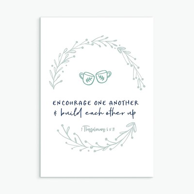 Encourage One Another Greeting Card (Cards)