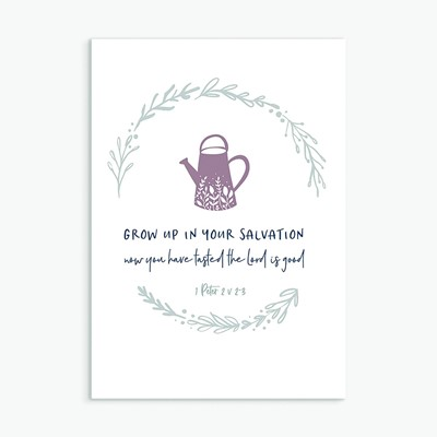 Grow Up in Your Salvation Greeting Card (Cards)