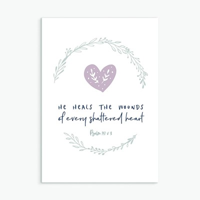 He Heals Greeting Card (Cards)
