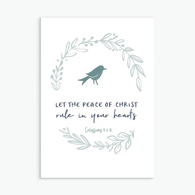 Let the Peace of Christ Greeting Card (Cards)