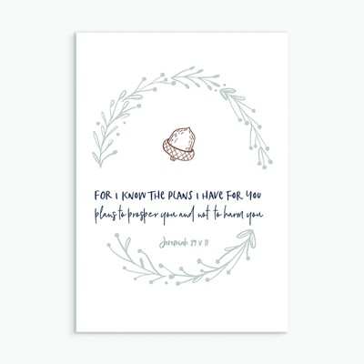 For I Know the Plans Greeting Card (Cards)