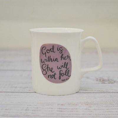 She Will Not Fall Fine Bone China Mug (General Merchandise)