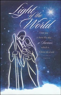 Light of the World Christmas Bulletin (pack of 100) (Bulletin)