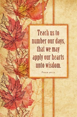 Teach Us to Number Our Days Bulletin (pack of 100) (Bulletin)