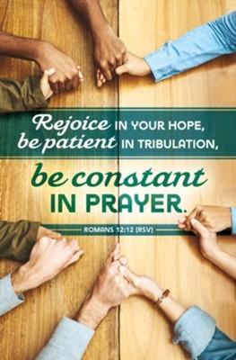 Be Constant in Prayer Bulletin (pack of 100) (Bulletin)