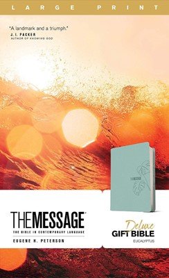 Message Deluxe Gift Bible, Large Print (Leather-Look, Teal), (Imitation Leather)