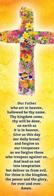 The Lord's Prayer Cross (Pack of 10) (Bookmark)