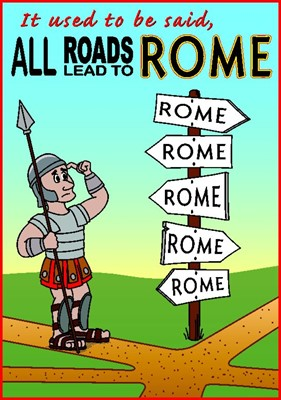 Tracts: All Roads Lead to Rome (Pack of 50) (Tracts)
