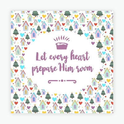 Let Every Heart Adore Him Christmas Cards (pack of 10) (Cards)
