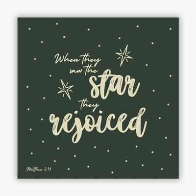 When They Saw the Star (green) Christmas Cards (10 pack) (Cards)