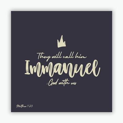 Call Him Immanuel (blue) Christmas Cards (pack of 10) (Cards)