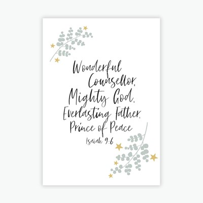 Wonderfu Counsellor A6 Christmas Cards (pack of 10) (Cards)