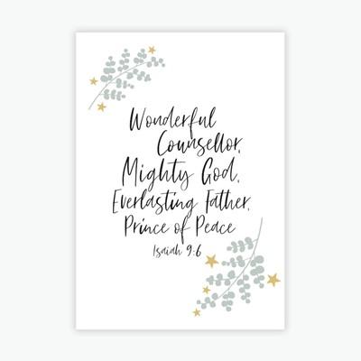 Wonderful Counsellor Mini Card (Cards)