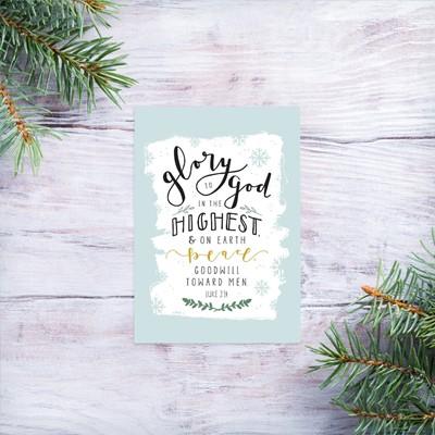 Glory to God Mini Card (Cards)