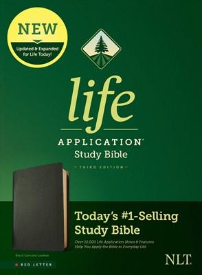 NLT Life Application Study Bible, Third Edition, Black (Genuine Leather)