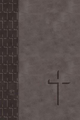 TPT Large Print New Testament, Grey (Imitation Leather)