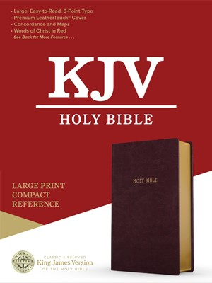 KJV Large Print Compact Reference Bible, Burgundy (Imitation Leather)