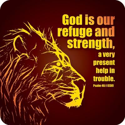God is Our Refuge Coaster (General Merchandise)