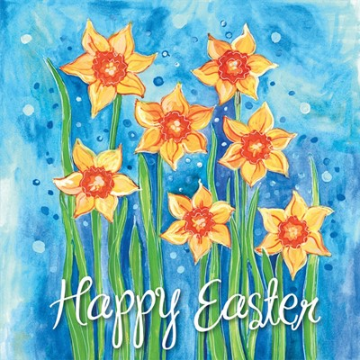 Sunny Daffodils Easter Cards (pack of 5) (Cards)