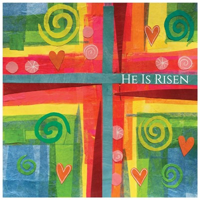 He is Risen Cross Easter Cards (pack of 5) (Cards)