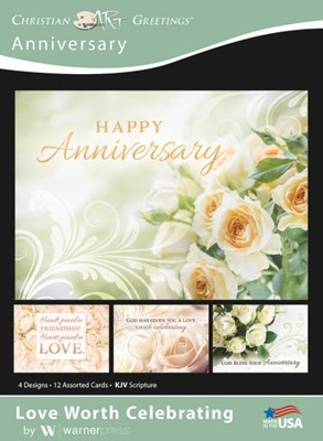 Boxed Greeting Cards - Anniversary Love Worth Celebrating (Cards)