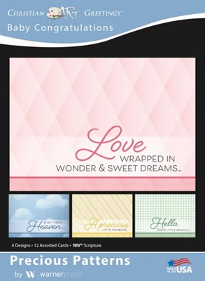 Boxed Greeting Cards - Baby Congratulations Precious Pattern (Cards)