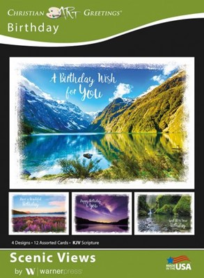 Boxed Greeting Cards - Birthday Scenic Views (Cards)