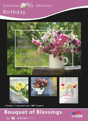 Boxed Greeting Cards - Birthday Bouquet of Blessings (Cards)