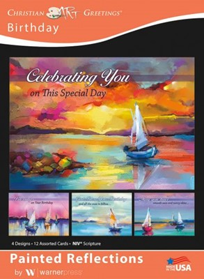 Boxed Greeting Cards - Birthday Painted Reflections (Cards)