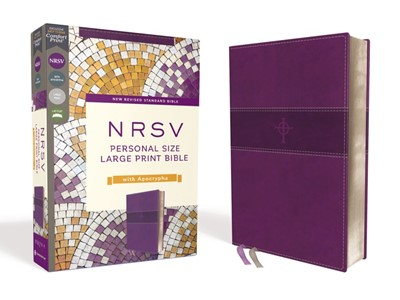 NRSV Personal Size Large Print Bible with Apocrypha, Purple (Imitation Leather)
