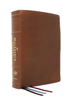 ESV MacArthur Study Bible, 2nd Edition, Brown (Genuine Leather)