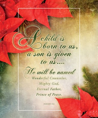 A Child is Born to Us Christmas Large Bulletin (pack of 100) (Bulletin)