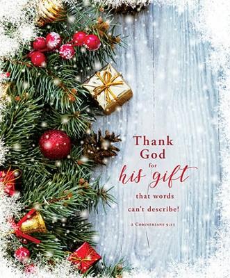 Thank God for His Gift Christmas Large Bulletin (100 pack) (Bulletin)