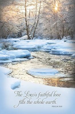 Snowy Stream Winter Bulletin (pack of 100) (Bulletin)