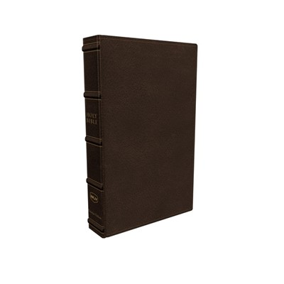 NKJV Large Print Verse-by-Verse Reference Bible, Brown (Genuine Leather)