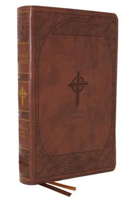 NABRE Catholic Bible, Large Print, Brown, Indexed (Imitation Leather)