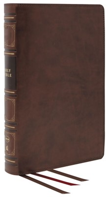 NKJV Reference Bible, Classic Verse-by-Verse, Brown (Genuine Leather)