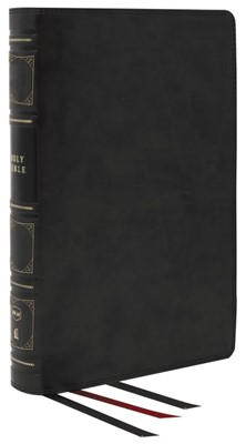 NKJV Reference Bible, Classic Verse-by-Verse, Black (Genuine Leather)