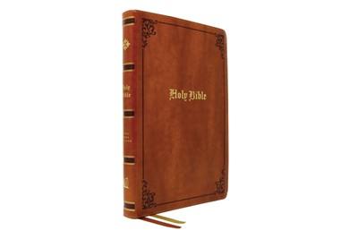 KJV Thinline Bible, Large Print, Tan, Red Letter (Imitation Leather)