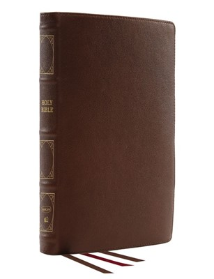 NKJV Reference Bible, Verse-by-Verse, Brown (Genuine Leather)