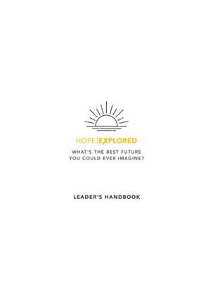 Hope Explored Leader's Handbook (Paperback)