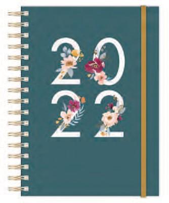 2022 12 Month Planner: Floral (Spiral Bound)