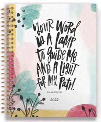 2022 18 Month Planner: Your Word Is A Lamp (Spiral Bound)