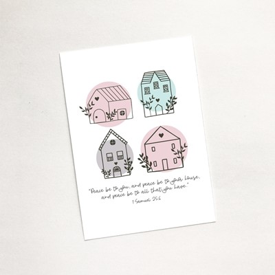 Peace Be To Your House (Scandi Home) - Mini Card (Cards)
