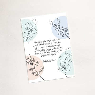 Trust in the Lord (Flora) - Mini Card (Cards)